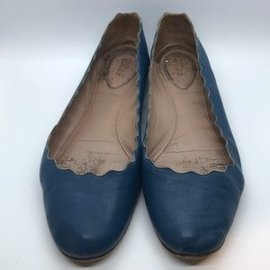 Very Used Authentic Chloe scalloped flats siz 40.5